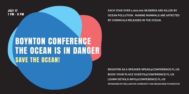 Ecology Conference Invitation in Colorful Frame Image – шаблон для дизайна