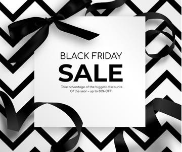 Black Friday promo with ribbon
