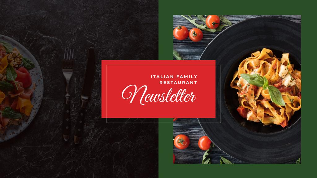 Delicious Italian pasta — Створити дизайн