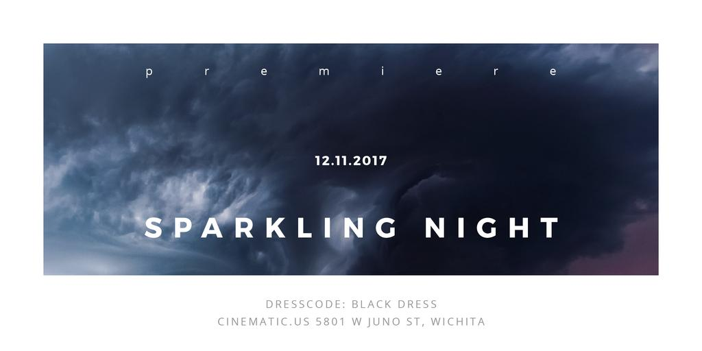 Sparkling night event Twitter Design Template