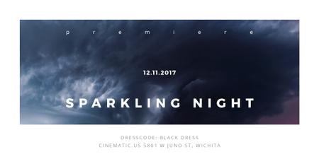 Plantilla de diseño de Sparkling night event Twitter