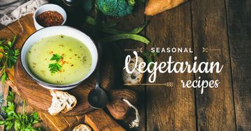 Seasonal vegetarian recipes banner