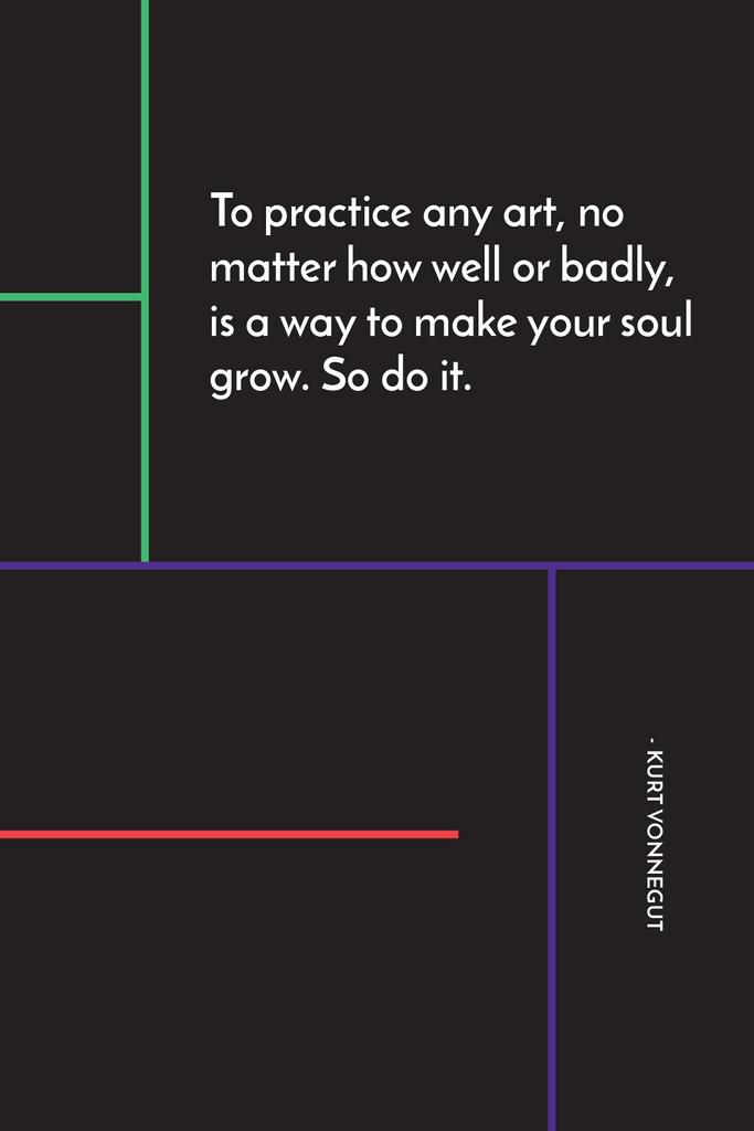 Art Quote in Linear Geometric Frame Tumblr – шаблон для дизайна
