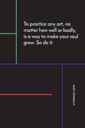 Art Quote in Linear Geometric Frame Tumblr Modelo de Design