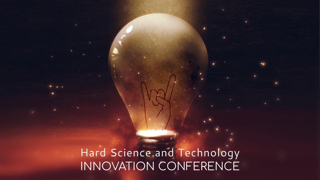 Light bulb with glowing rock sign — Maak een ontwerp