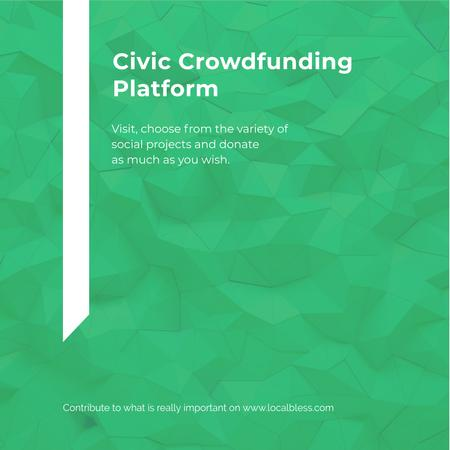 Civic Crowdfunding Platform Instagramデザインテンプレート