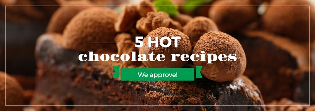 Confectionery Recipe Delicious Chocolate Cake | Tumblr Banner Template — Créer un visuel