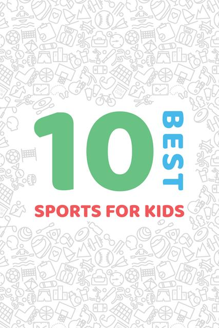 Best sports for kids Ad Pinterestデザインテンプレート