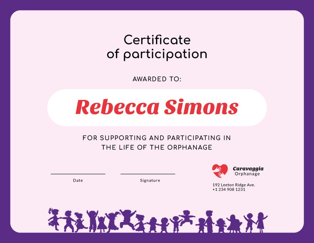 Modèle de visuel Charity Orphanage life participation gratitude - Certificate