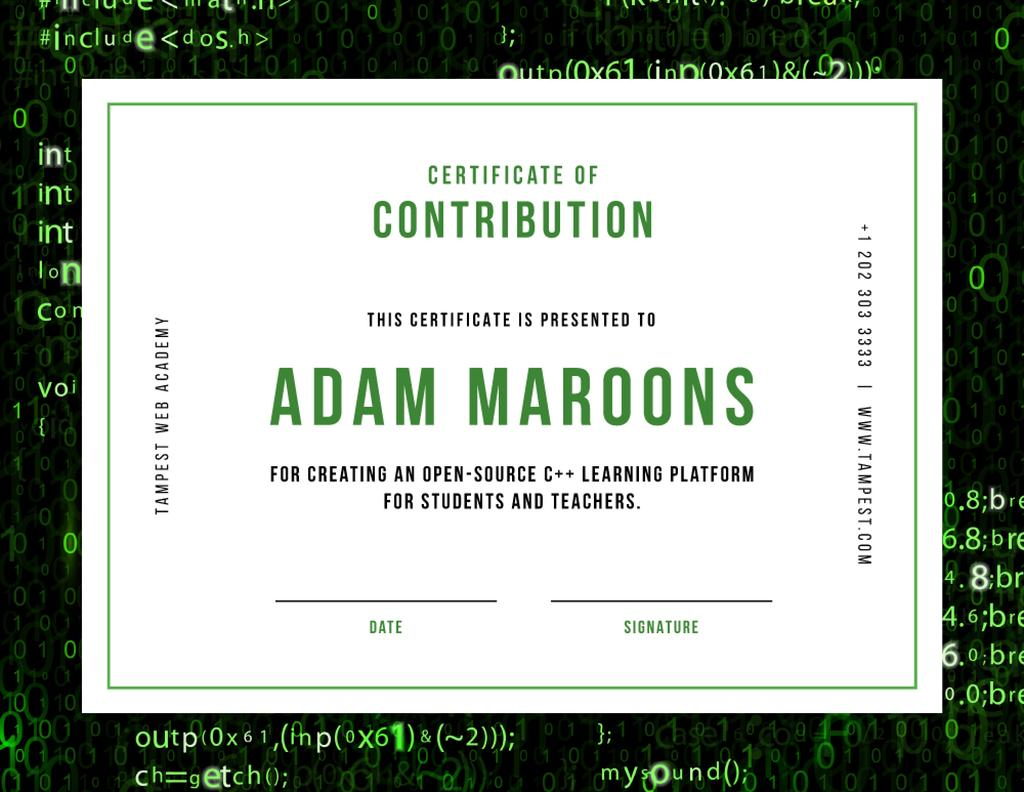 Online Learning Platform Contribution gratitude Certificate Modelo de Design