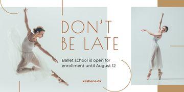 Ballet Classes Promotion Ballerina Dancing