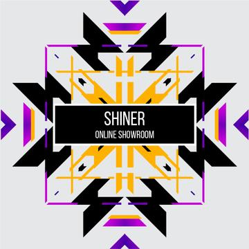 Abstract geometric template in ethnic style