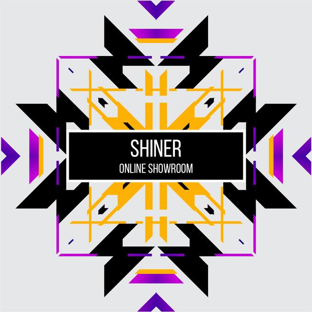 Abstract geometric template in ethnic style Animated Post – шаблон для дизайна