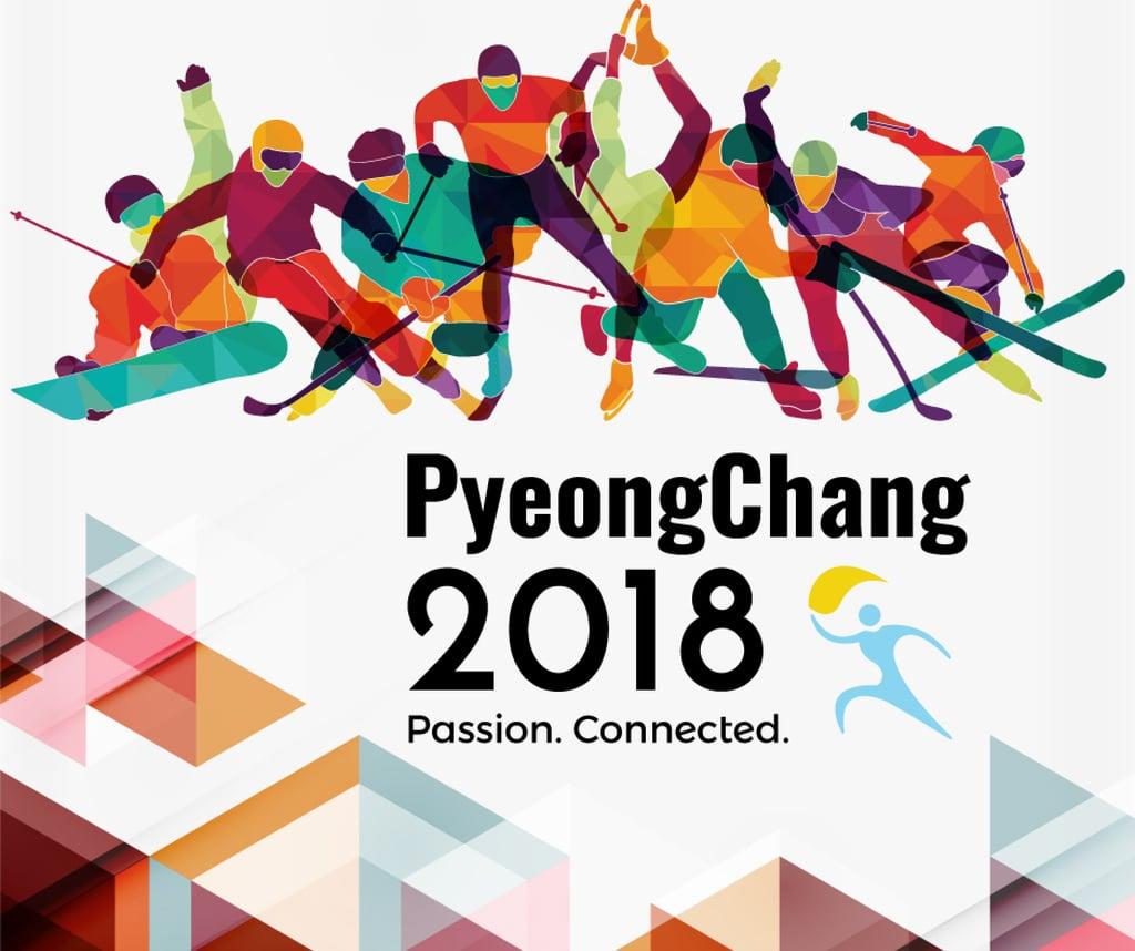 Winter Olympics on PyeongChang poster — Modelo de projeto
