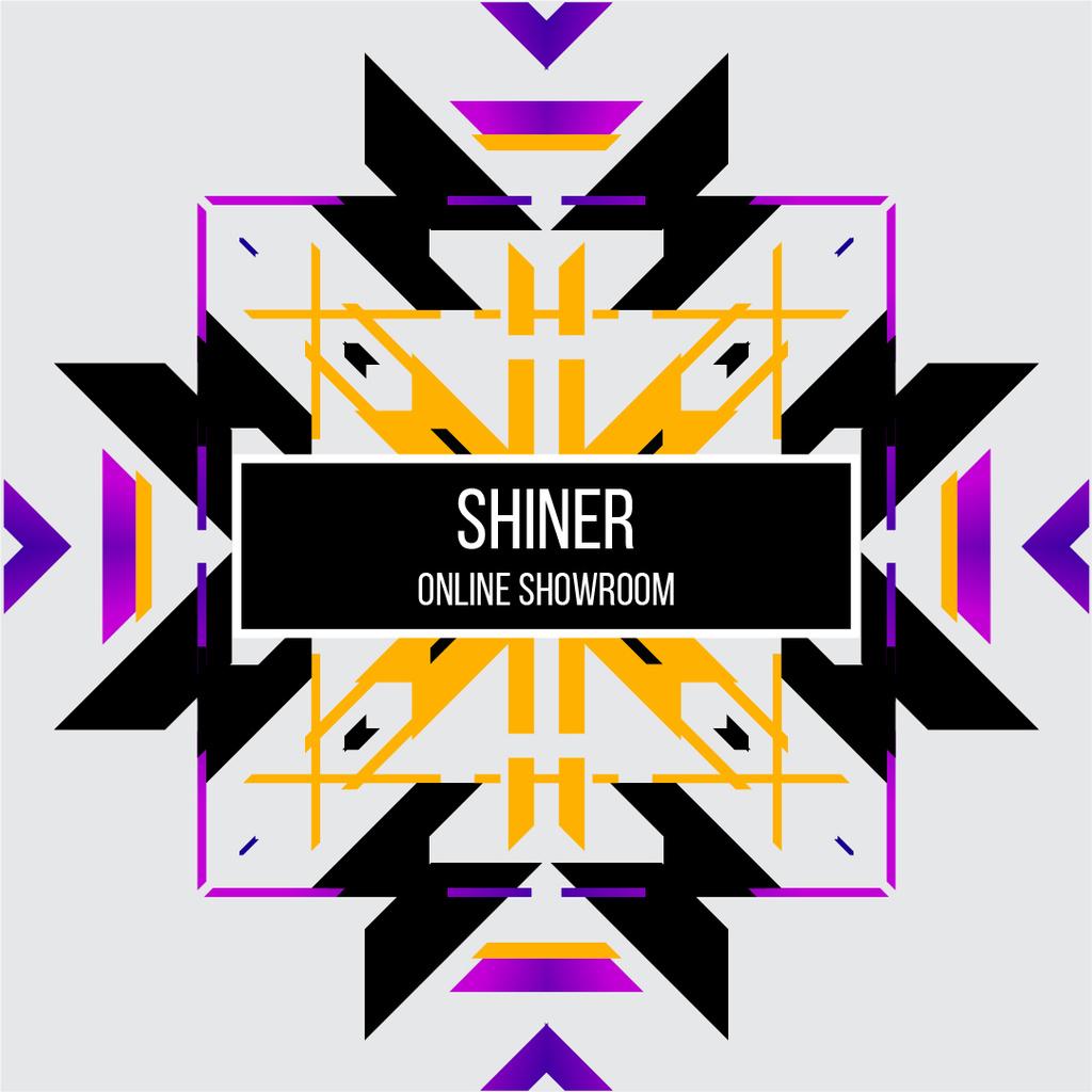 Abstract geometric template in ethnic style – Stwórz projekt