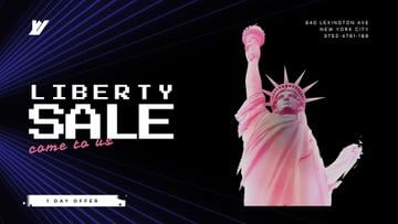 Independence Day Rotating Liberty Statue in Pink