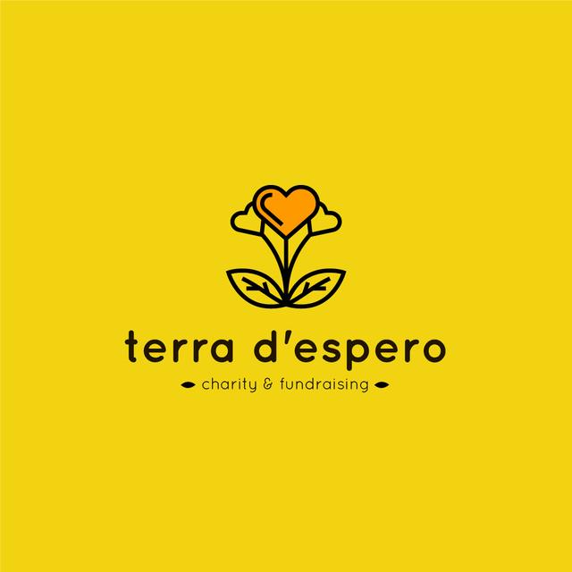 Plantilla de diseño de Charity Fund with Heart in Flower Logo