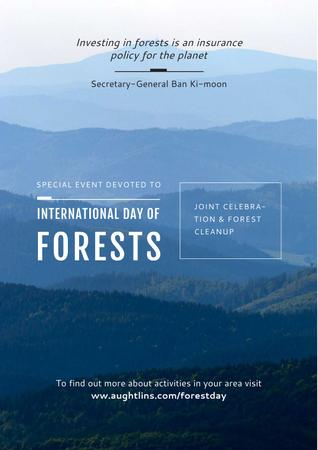 Special Event devoted to International Day of Forests Poster Tasarım Şablonu