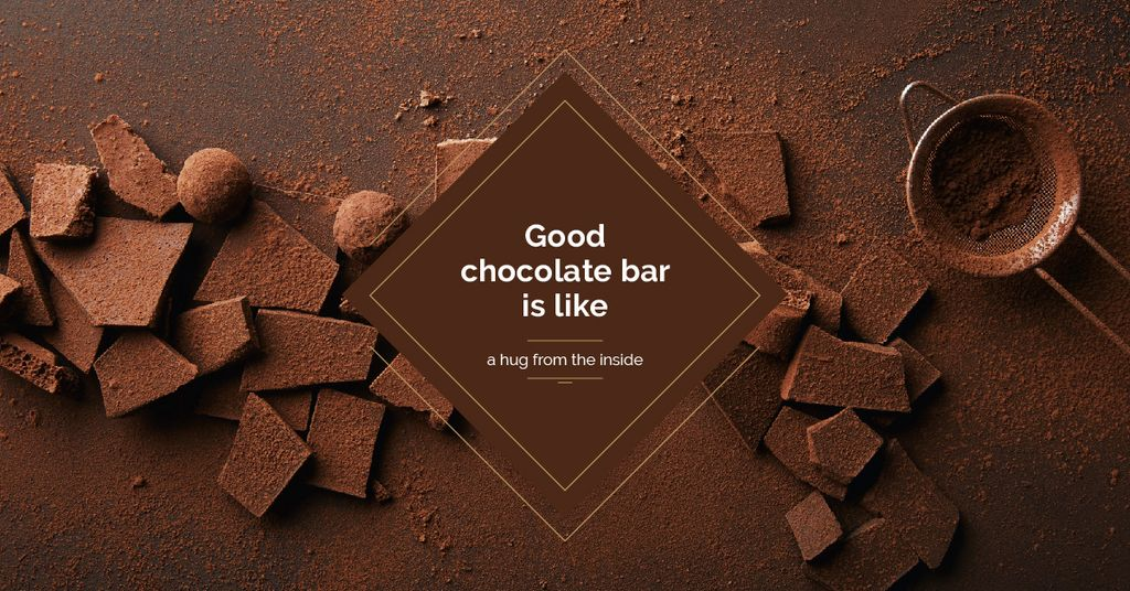 Chocolate pieces with cocoa — Crear un diseño