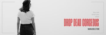 Drop dead gorgeous fashion banner