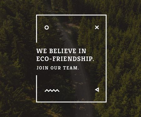 Plantilla de diseño de Eco-friendship concept Large Rectangle