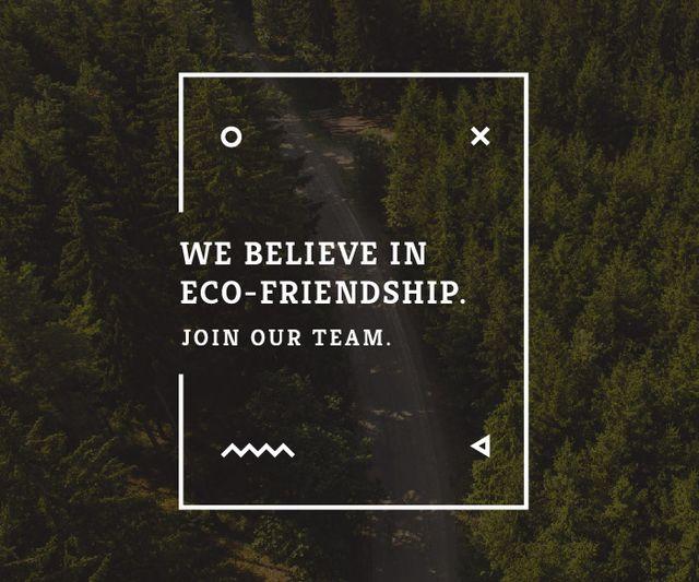 Ontwerpsjabloon van Large Rectangle van Eco-friendship concept