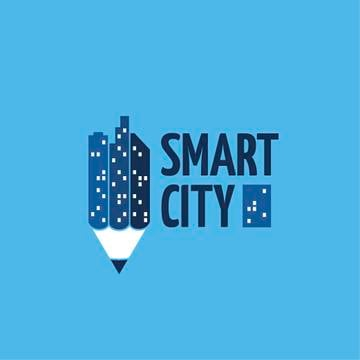 Smart City Concept Night Lights