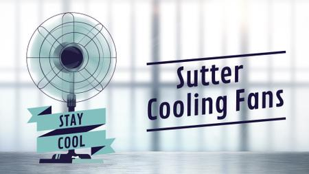 Cooling Fan Ad in Blue Full HD video Modelo de Design