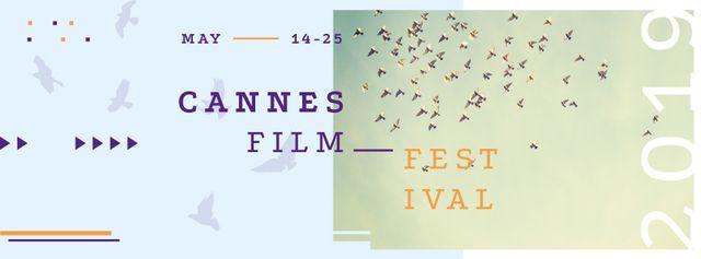 Cannes Film Festival Facebook coverデザインテンプレート
