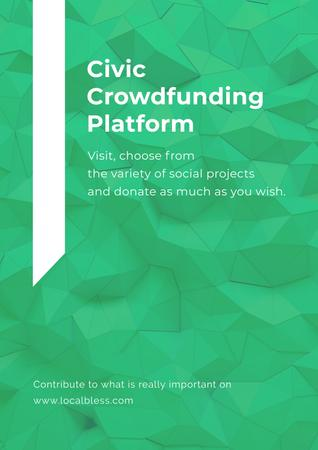 Crowdfunding Platform promotion Poster Modelo de Design