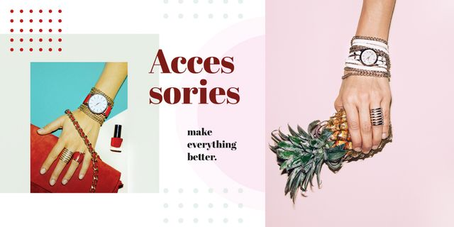 Female hand in shiny accessories holding pineapple Image Modelo de Design
