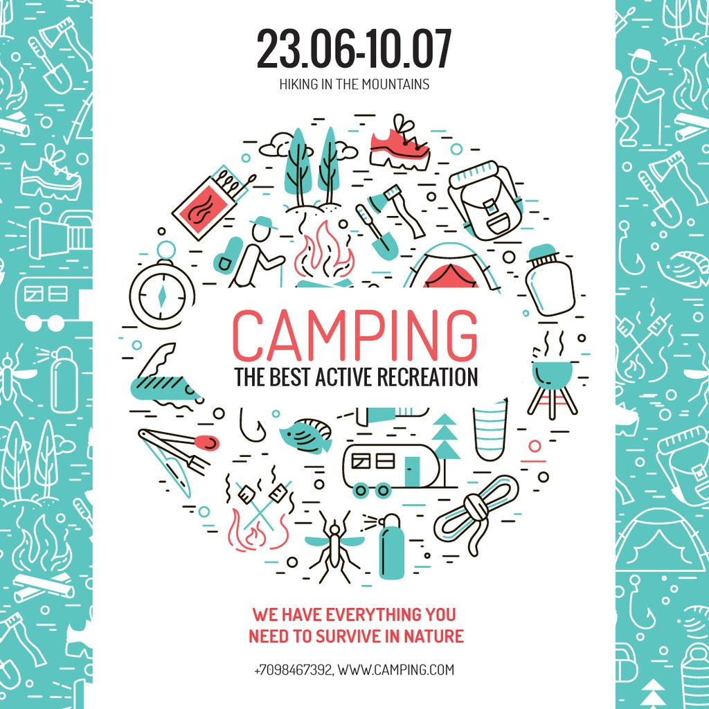 Camping trip advertisement — ein Design erstellen