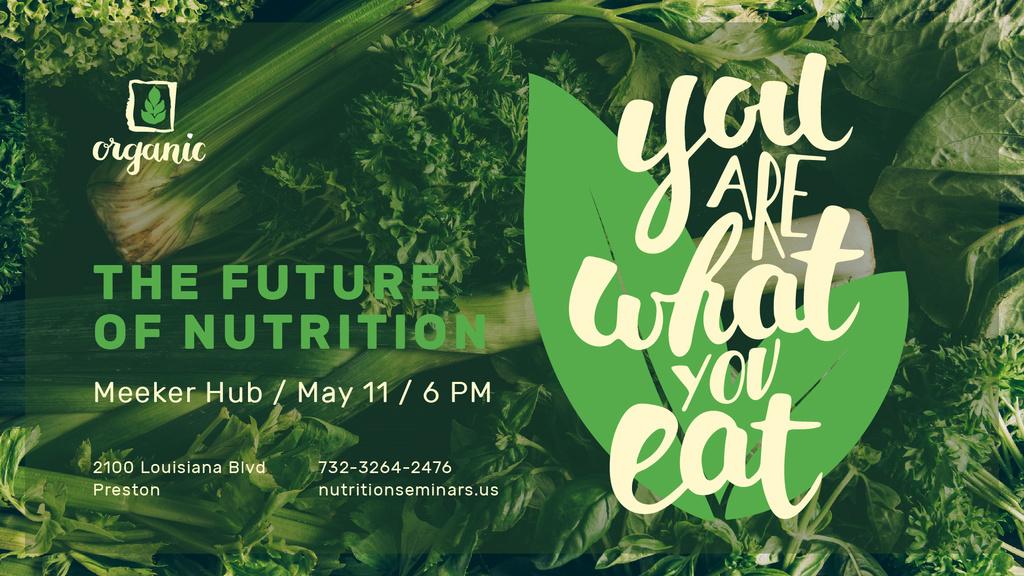 Nutrition Lecture announcement with Green Food — Créer un visuel