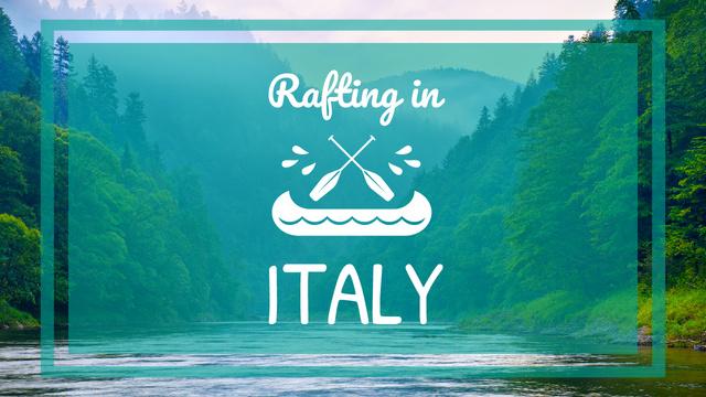Plantilla de diseño de Rafting Tour Offer Scenic Mountains View Youtube Thumbnail