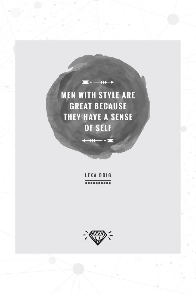 Citation about men with style — Створити дизайн