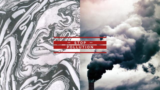 Thick smoke from industrial chimney Youtube Tasarım Şablonu