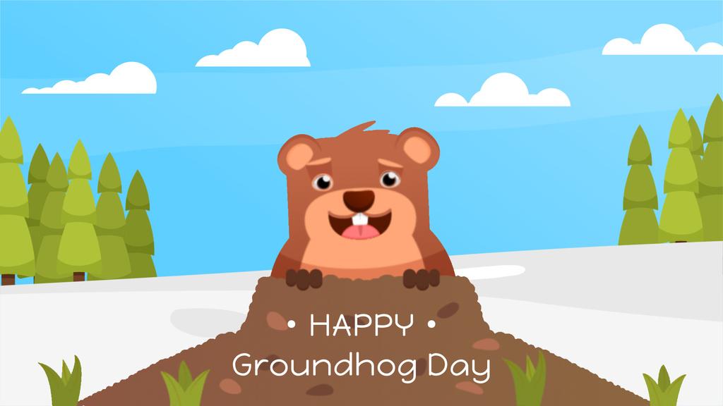 Cut funny groundhog — Créer un visuel