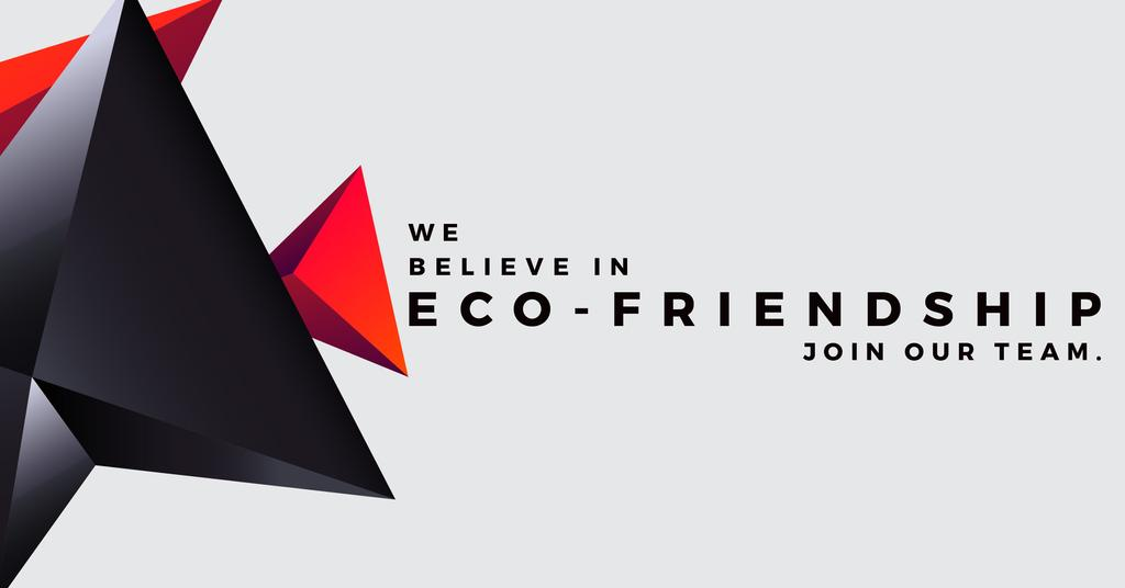 Eco-friendship concept Facebook ADデザインテンプレート