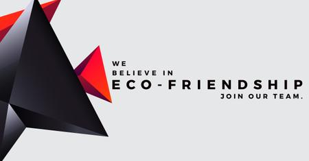 Eco-friendship concept Facebook AD Modelo de Design