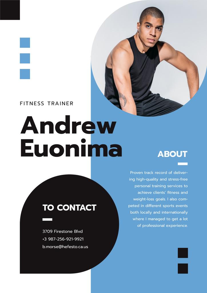 Fitness trainer professional Profile - Bir Tasarım Oluşturun
