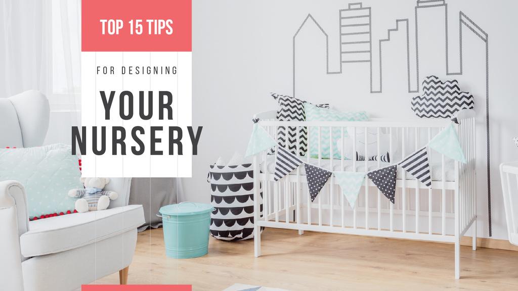 Cozy nursery interior — Maak een ontwerp