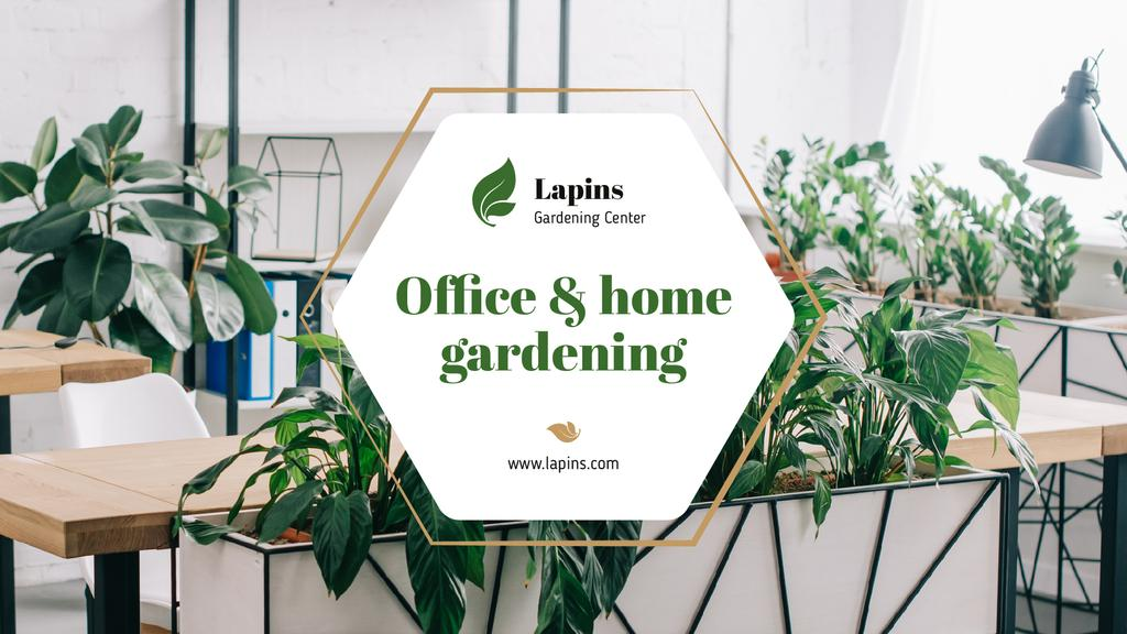 Gardening Center Ad Plants in Modern Office — Maak een ontwerp