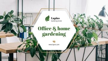 Gardening Center Ad Plants in Modern Office | Presentation Template