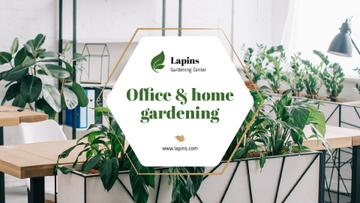 Gardening Center Ad Plants in Modern Office