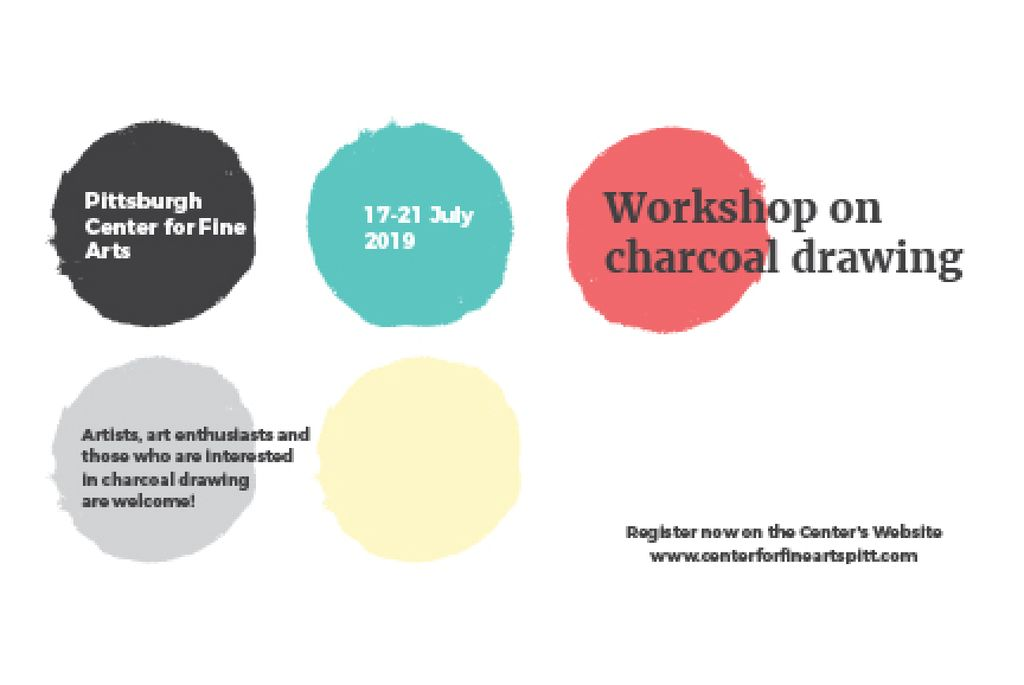 Workshop of Charcoal Drawing Announcement — Crear un diseño