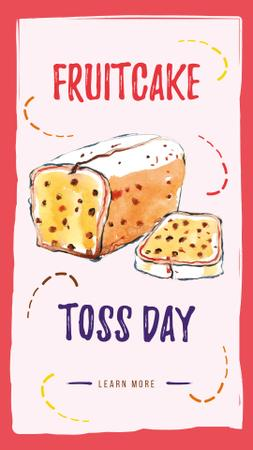 Template di design Fruitcake Toss day with Sweet poundcake with berries Instagram Story