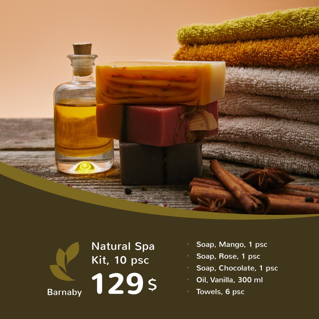 Natural Handmade Soap Shop Ad — Create a Design