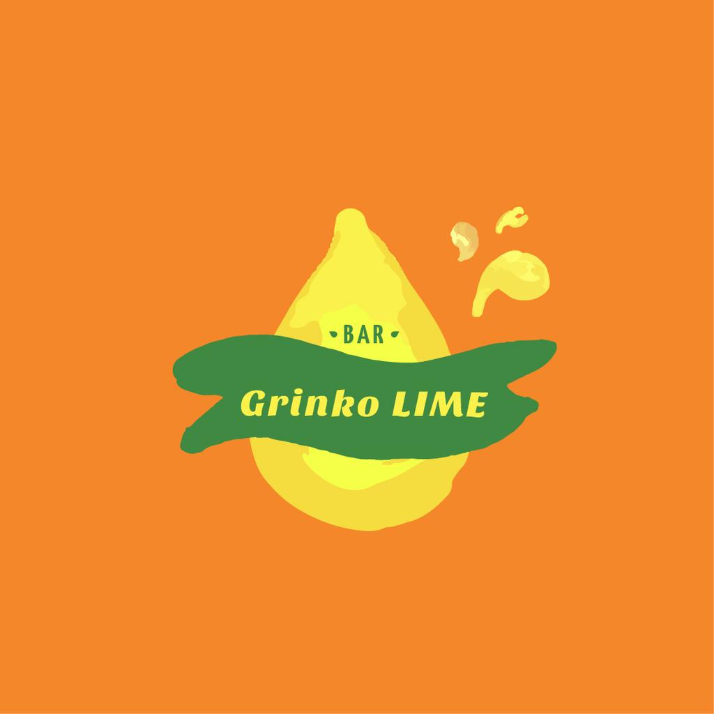 Bar Ad with Lime Fruit Icon — Crear un diseño