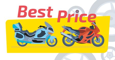 Ontwerpsjabloon van Facebook AD van Sale Offer Pair of Sport Motorcycles