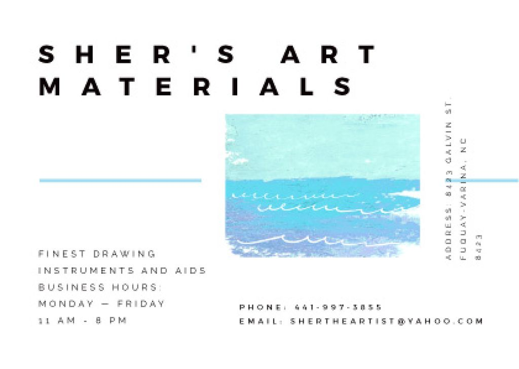 Art Material Store ad with Sea Landscape — Create a Design